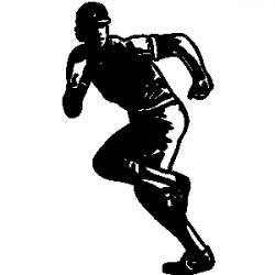 Baseball clipart runner