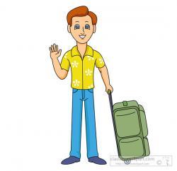 Men clipart suitcase