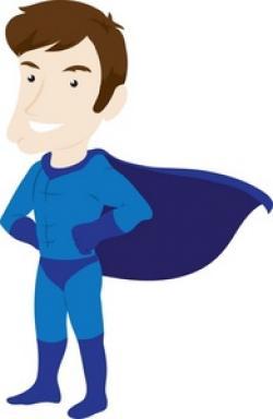 Men clipart superhero