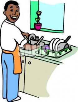 Men clipart washing dish