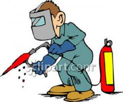 Welder clipart cartoon