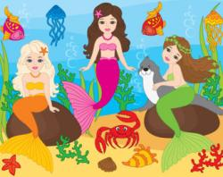 Mermaid clipart crab