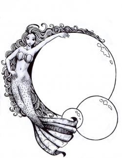 Drawn mermaid mystical mermaid