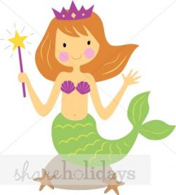 Mermaid clipart graphic