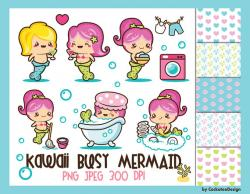 Mermaid clipart kawaii