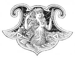 Mermaid clipart medieval