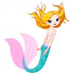 Mermaid clipart mermaid swimming