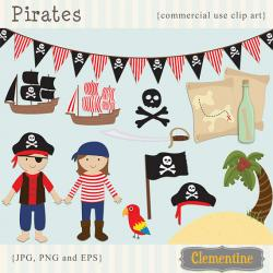 Pirate clipart themed