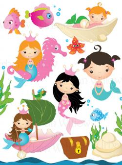 Mermaid clipart starfish