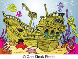 Wreck clipart sunken treasure