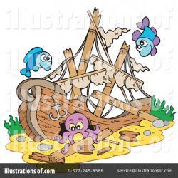 Wreck clipart sunken ship