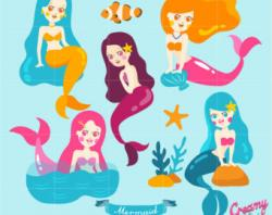 Mermaid clipart tiara
