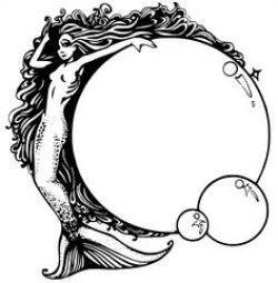Mermaid clipart victorian