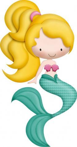 Blonde clipart cartoon mermaid