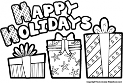 Holydays clipart black and white