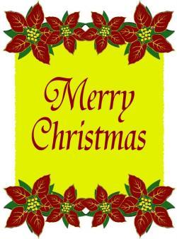 Poinsettia clipart merry christmas