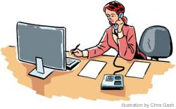 Office clipart office assistant