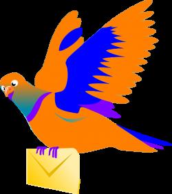 Message clipart bird
