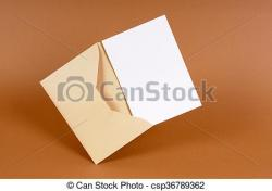 Message clipart brown envelope