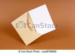 Message clipart brown envelope