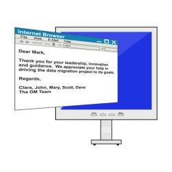 Message clipart business letter