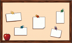 Message clipart classroom board