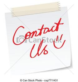 Message clipart contact us