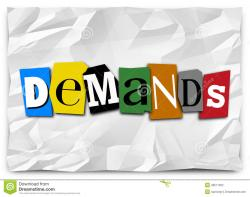 Message clipart demand