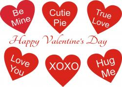 Message clipart happy valentines day
