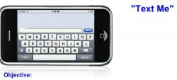 Text clipart iphone