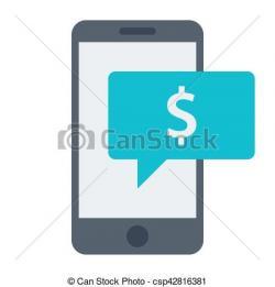 Message clipart online payment