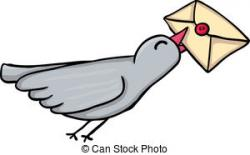Message clipart pigeon