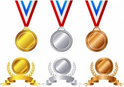 Bronze clipart gold award