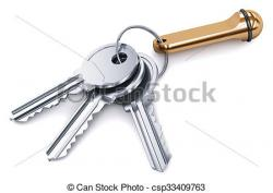 Metal clipart bunch key