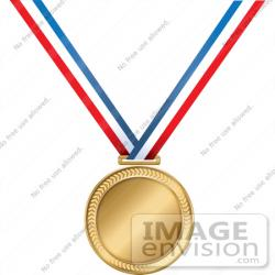 Metal clipart first place medal