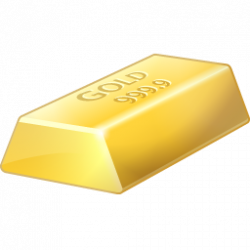 Metal clipart gold bar