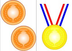 Olympic Games clipart gold medal