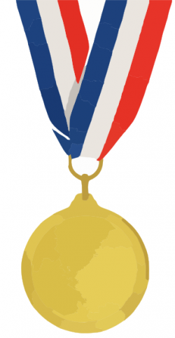 Place clipart gold medal