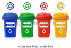 Metal clipart recycle bin