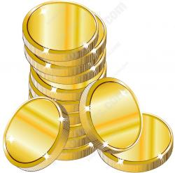 Metal clipart stack money