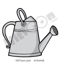 Watering Can clipart metal
