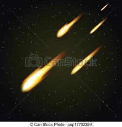 Comet clipart meteor shower
