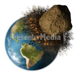 Asteroid clipart earth