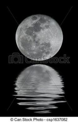 Meteor clipart full moon