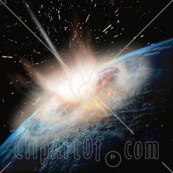 Meteor clipart impact