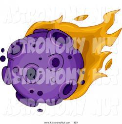 Meteor clipart purple