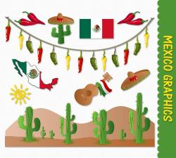 Pepper clipart mexican cactus