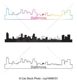 Miami clipart baltimore skyline