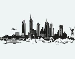 Miami clipart philly skyline
