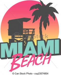 Miami clipart vector